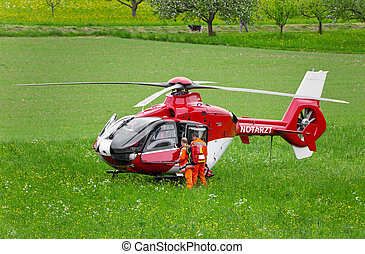 Rescue Helicopter - This image shows a German rescue...