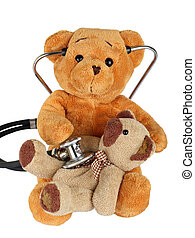 Health service - Picture of a teddy bear on isolated...