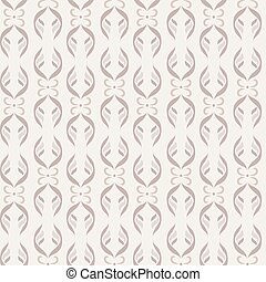 Seamless pattern. Vertical strips of vegetable and floral elements. Shades of beige