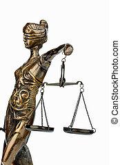 Escultura, de, Justicia,