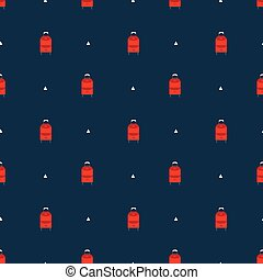 suitcases pattern - Seamless pattern with luggage and...