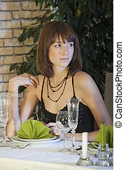 woman in restaurant
