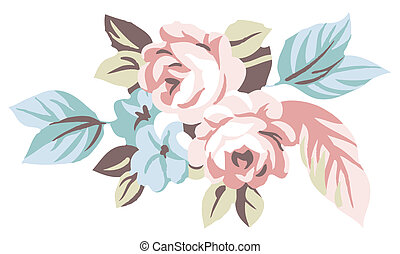 flower - a vivid illustration of a bunch of flower