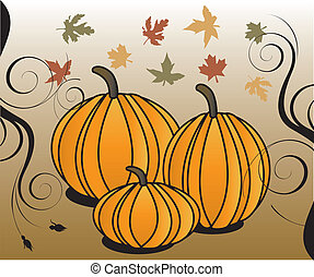 Fall 2 - Vector Illustration for Fall Autumn Leaves and...