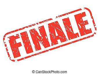 Finale red stamp text on white