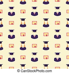 their graduate pattern - Seamless pattern with their...