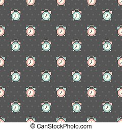 clock pattern - Seamless pattern with an alarm clock vector...