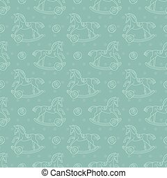 children's rocking chair pattern - Seamless pattern with...