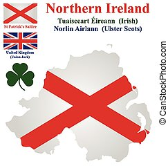 Northern Ireland Flag - Flag and national emblem of Northern...