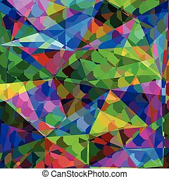 Abstract colorful geometric illustration Cute picture for...
