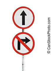 Traffic sign isolated on white background