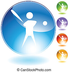 Baseball Player Icon isolated on a white background