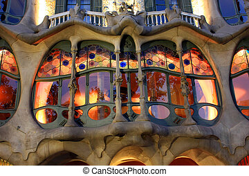 Casa Battlo - Famous creation by Gaudi 1904 for the...