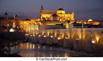 roman bridge of Cordoba - Old roman bridge and...