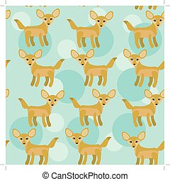 Africa Fennec Fox Seamless pattern with funny cute animal on...