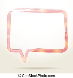 watercolor Speech Bubble Background. Vector illustration...