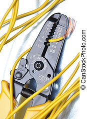Strippers tool with electrical wires