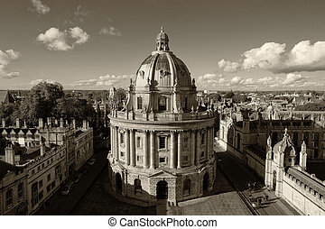 Oxford - The Oxford University City - Monochrome retro...
