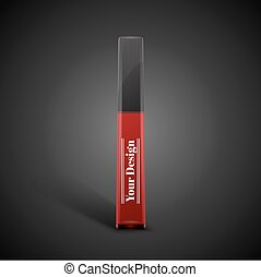 Blank beautiful gloss for lips, excellent vector...