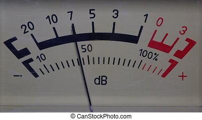 decibel meter - part of sound equipment