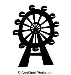 Ferris Wheel - Vector illustration of the ferris wheel