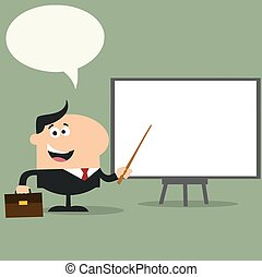 Manager Pointing To A White Board
