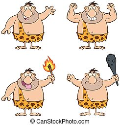 Funny Caveman 1 Collection Set - Funny Caveman Cartoon...