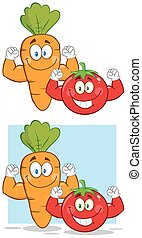 Carrot And Tomato. Collection Set