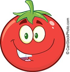 Smiling Tomato Character