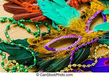 Mardi Gras - Multicolored decorations for Mardi Gras party...