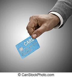 Afro-américain, tenue, crédit, voiture,