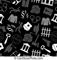 justice and law gray seamless pattern eps10