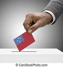 nero, maschio, presa a terra, flag., votazione, concetto, -,...