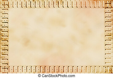 old paper background with framing - light brown colour