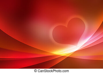 heart - valentine abstract background red coloured...
