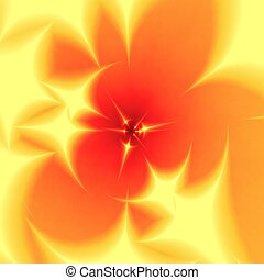 Blurred orange-yellow background - Abstract blurred yellow...