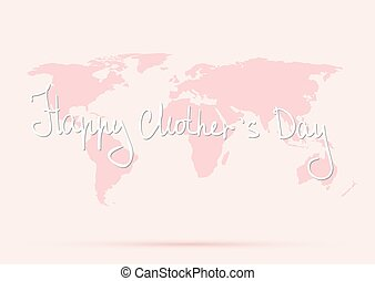 World map mothers day illustration