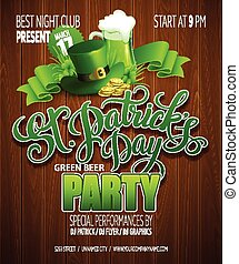 Typography St Patricks Day poster Vector illustration EPS 10...