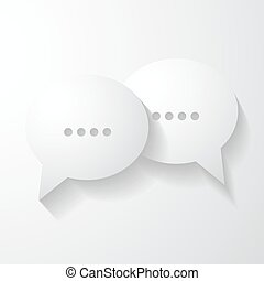 Speech bubbles chat icon