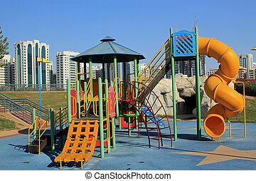 Inner city childrens playground - Inner city childrens play...