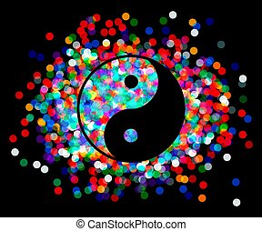 Yin Yang symbol Vector - the Yin Yang of confetti Vector...