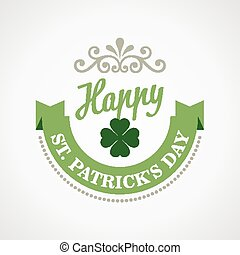 Typography St. Patricks Day. Vector
