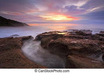 Sunrise Coalcliff NSW Australia - Unique cloud formations...
