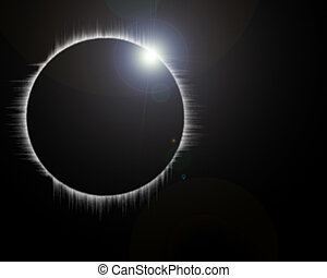 monthly eclipse - On image monthly eclipse on white...