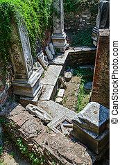 Ruins of Turkish baths of the XV century Bey Hamam - Ruins...