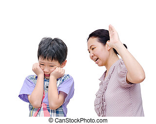 Mother Being Physically Abusive Towards Son Over White...