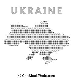 Ukraine Map with Blue Dot.