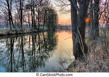 river Spree in winter