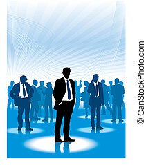 Corporate people - Businesspeople are standing in a virtual...