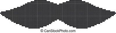 pixel art mustache